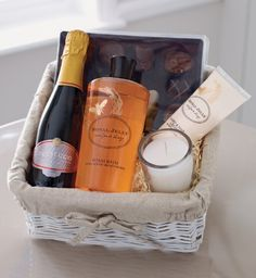 Another great gift basket idea! We are totally making one for our moms!