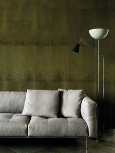 Three-seat sofas: Sofa Rod by Living Divani Tape off sofa wall in sections like this for bed wall in luster stone.