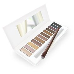 Best Eyeshadow Palette - 12 Color Pro Eye Palette - Highly Pigmented for Naked Natural Nude Bronze Shimmer or Smokey Eye Makeup - FREE Duo Eyeshadow Brush and Step-by-Step Eye Makeup Guide Included