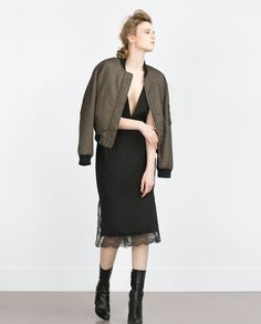 ZARA - COLLECTION SS16 - CONTRAST LACE SKIRT