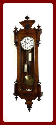 Antique Regulatorfabrik Germania 2 weight wall clock at 1900