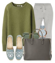 """""""Без названия #3561"""" by alexandragoga ❤ liked on Polyvore featuring James Perse, Uniqlo, Ray-Ban, Armani Exchange, Tom Ford and Soludos"""