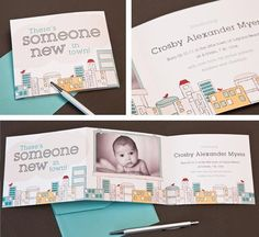 Birth announcement cards - design inspiration