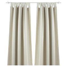 "Brite Ideas Living Linen Rod Pocket Curtain Single Panel Size: 52"" W x"