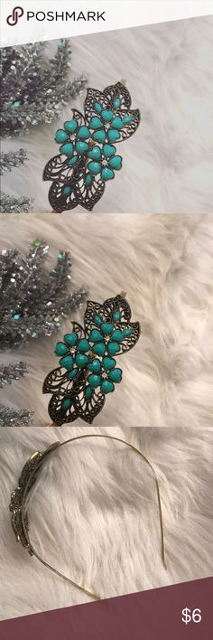 🌸 green floral gold head band In great condition super cute headband Accessories Hair Accessories