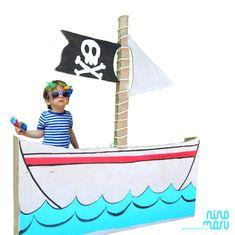 DIY Photocall - barco de cartón