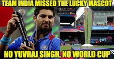 #WT20 #TeamIndia #YuvrajSingh #INDvsWI #ICCT20WC  Indian Cricket Team missed their lucky mascot Yuvraj Singh once again  http://www.crickettrolls.com/2016/03/31/team-india-missed-the-lucky-mascot-yuvraj-singh-wt20-2016/
