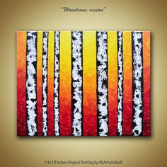 Autumn Birch Trees contemporary Abstract Modern by SKArtzGallerE, $77.00
