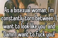 'Being bisexual doesn't mean you're into threesomes.' This and other confessions courtesy of Whisper. Lgbt Quotes, Lgbt Memes, Bisexual Pride, What Is Bisexual, Transgender, Whisper Confessions, Lgbt Love, Bisexual Coming Out, Feminism