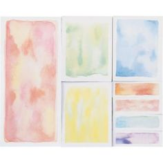 This Paper Source designed Watercolor notepad satisfies all of your sticky note needs. This fun multi-pad includes three different size sticky notes. Each pad contains 60 sheets.