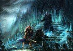World Of Warcraft Lich King Fantasy Art Arthas Artwork Warriors High Fantasy, Fantasy Art, Arthas Menethil, World Of Warcraft Gold, Lich King, Death Knight, Warcraft Art, Wow Art, Starcraft