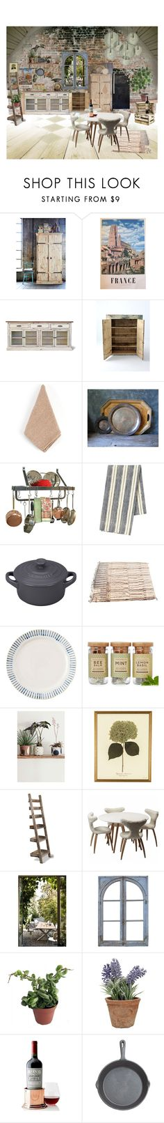 """""""Rustic kitchen"""" by les1 ❤ liked on Polyvore featuring interior, interiors, interior design, home, home decor, interior decorating, Saro, Birks, Enclume and Pehr"""