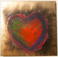 Burning Love. 100x100 Acrilic & Spray FACEBOOK: Agnes Viper