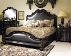 Home Gallery Furniture for Leather, California King Panel Bed