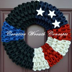 Police/Law Enforcement 'Thin Blue Line' Wreath by CreativWreathConcept on Etsy https://www.etsy.com/listing/228846581/policelaw-enforcement-thin-blue-line
