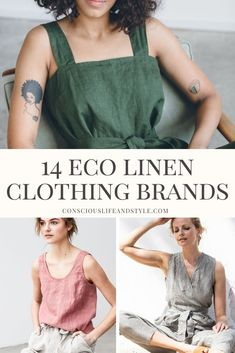 linen clothes These sustainable fashion brands have easy breezy comfy linen clothing perfect for summer days ahead. Ethical Fashion Brands, Ethical Clothing, Organic Womens Clothing, Best Clothing Brands, Womens Linen Clothing, Fast Fashion Brands, Eco Clothing, Sustainable Fabrics, Sustainable Fashion