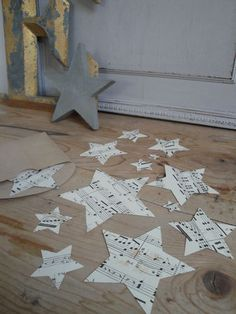 "These stars would be so cute in a frame in your ""music"" room @Melinda Turnbull"
