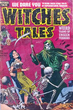 Comic Book Cover For Witches Tales #8