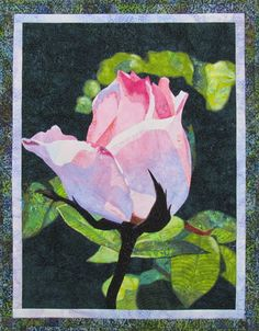 Rose Bud Art Quilt Pattern by Lenore Crawford di LenoreCrawford