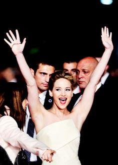 Jennifer Lawrence - haha same pose when u walked into my reception -CK