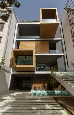 Designed by Tehran studio Next Office, Sharifi-ha House features three rooms that can be rotated 90 degrees to open up views and terraces during Iran's hot summers, and turned back to a horizontal position to keep the house warmer during the cold, snowy winters.