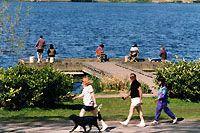 Greenlake - fishing, walking, biking, great people watching. It's got it all.