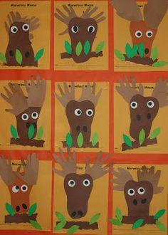 Nancy Nolan's Kindergarten: Letter M Week Letter M Crafts, Alphabet Crafts, Alphabet Art, Fall Preschool, Preschool Crafts, Animal Crafts For Kids, Art For Kids, Moose Crafts, Canadian Animals