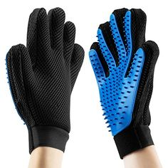 Pet Grooming Massage Glove Brush, OMorc 2Pcs Pet Dog Cat Grooming Gloves Hair Remover Brush Glove for Long and Short Hair(Both for Right Hands)