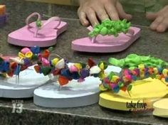 CraftSanity on TV: Making fancy flip flops and water balloons out of sponges