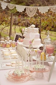I would like to have miles of that banner hanging above the cake table