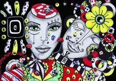Gira-Zóio/ 2012   Me beija? -Na boca? Não? -Onde então uai? Nu zóio sô! Mai pruquê nu Zóio? É pumodiqui nele si encontra a Alma.  Me beija logo, antes que eu pisque e durma pra sempre!   Marker, canetas em canson A3  http://www.jurossi.com.br/ http://grupomosaicocultural.com.br/