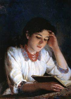 Lezende vrouwen / Reading women (1890) by Ilya Galkin (1860-1915)