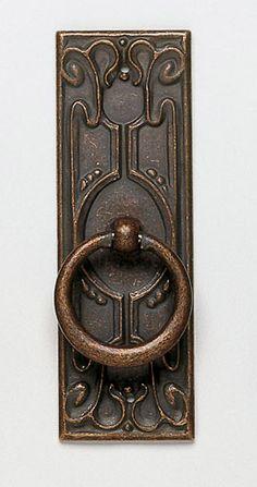 Hardware Architectural & Garden Vintage Cabinet Door Or Drawer Pull Bronze Dark Patina Arts And Crafts