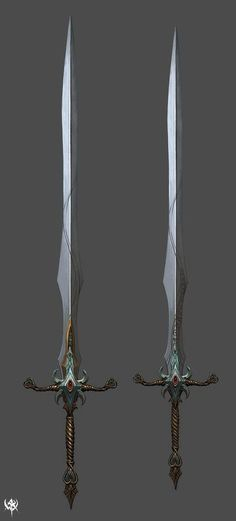 The Terminus Sword (left) and Omega Sword (right)