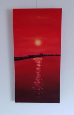 2019 - Amsterdamer Hafen Öl auf Leinwand 60 x 30 cm #Amsterdam #Sunset #Ölgemälde #KunstaufLeinwand #Kirsche-Art Amsterdam, Art On Canvas, Cherry, Lighthouse, Baltic Sea, Pictures