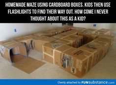 Awesome maze for kids... maybe after we move and have boxes left over