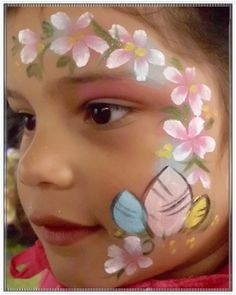 Easter egg face painting design  + face paint recipe