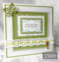 Debra Shaw - Downton Abbey Collection - Ribbon Brooch Die, Ornate Frame Die, Leaf Flourish Embossing folder - Ivy Stuart paper CD2 - Sentiment CD1 - Green Core'dinations - Collall 3D Gel - Collall All Purpose & Tacky glues - #crafterscompanion #DowntonAbbey
