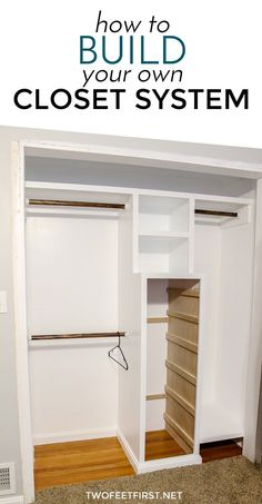 to build a closet system - The PLANS Need more closet space? here is how to build a closet systemNeed more closet space? here is how to build a closet system Closet Planning, Closet Renovation, Bedroom Organization Closet, Closet Organizing Systems, Closet Space, Bedroom Diy, Build A Closet, Closet Organization Diy, Closet Layout