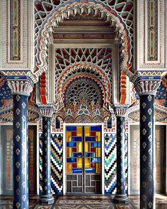 Castello di Sammezzano, Reggello, Italy. 43°42′10.83″N 11°28′18.13″E