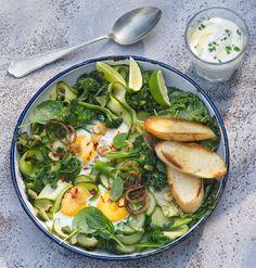 Zelená šakšuka s máslovým jogurtem , Foto: L.A. CREATIVE FOOD