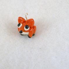 Tiny Fox Charm by iwearmittens on Etsy