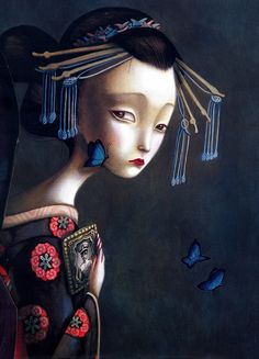 """Los amantes mariposa"" by Benjamin Lacombe"