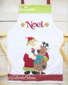 Delantal noel y reno 2019 🎅💓🦌🎄❄️🌟 Christmas Items, Christmas Crafts, Xmas, Felt Crafts, Country, Sewing, Diy, Aprons, Scrappy Quilts