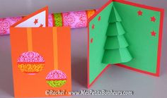 free printable 3d kirigami pop up christmas card