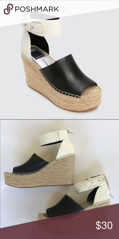 e624108ef7de The espadrille style Dolce Vita wedges Leather  Cowhide Strappy silhouette  Wedge heel Platform profile Zip