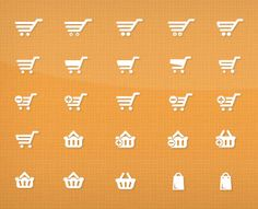 40 Shopping Cart Icons by shapes4free (via Creattica)