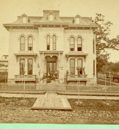 Stereoview of the J.N. Ellie residence - 1860s