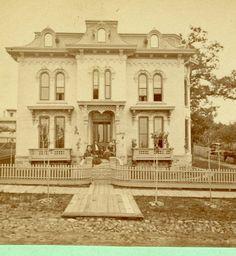 Stereoview of the J.N. Ellie residence - 1860s