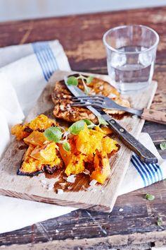 Nyhtökurpitsa | K-ruoka #myskikurpitsa Curry, Ethnic Recipes, Food, Curries, Essen, Yemek, Meals
